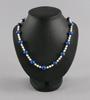 Pärlcollier, sötvattenspärlor och lapis lazuli.
