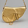 "Christian dior, shoulderbag ""saddlebag""."