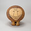Lisa larson, a 'lajon maxi' stoneware sculpture from gustavsberg.