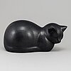 Lisa larson, a 'moses' cat stoneware figurine from k-studion, gustavsberg.
