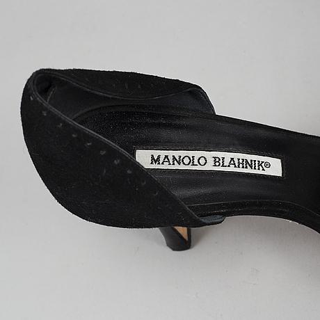 Manolo blahnik, pumps, storlek 37 1/2.