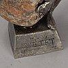 Henry gustafsson, a signed pewter sculpture 'lyftet'. wimmerby tenn.