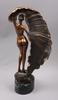 OkÄnd konstnÄr, skulptur, brons. otydl sign o numr. art deco-stil. 1900-talets andra hälft.