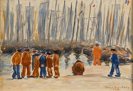 Hugo simberg, sardine fishermen.