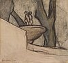 Ellen thesleff, fountain in borghese, rome.