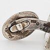 ClaËs e. giertta, cufflinks, silver.