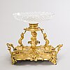 A late 19th century gilt centrepiece.
