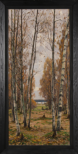 Victor westerholm, birchwood in autumn.