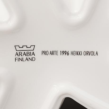 Heikki orvola, two 'carambola' porcelain vases for arabia, pro arte 1996.