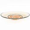 """Tapio wirkkala, a ' """"piatto di tapio"""", decorative dish signed venini tw -89."""