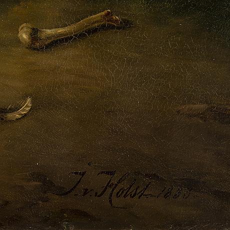 Johan von holst, olja på duk, signerad och daterad 1883.