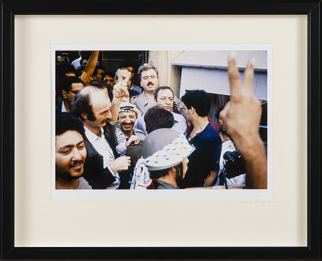 Leena saraste, a photograph, signed and dated -82.