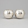 Olle ohlsson,  a pair of sterling tumblers, import marks, nr 245, 247.