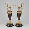 A pair of decorative ewers, second half of the 19th ct.