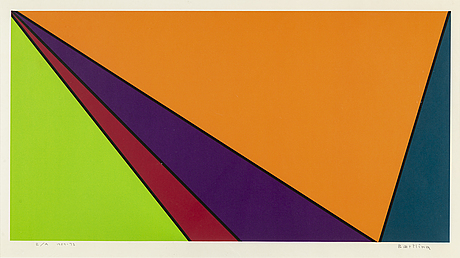 Olle baertling, silkscreen in colours,1959-73, signed ea.