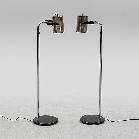 Per sundstedt, a pair of 'orion' floor lamps from the second half of the 20th century.