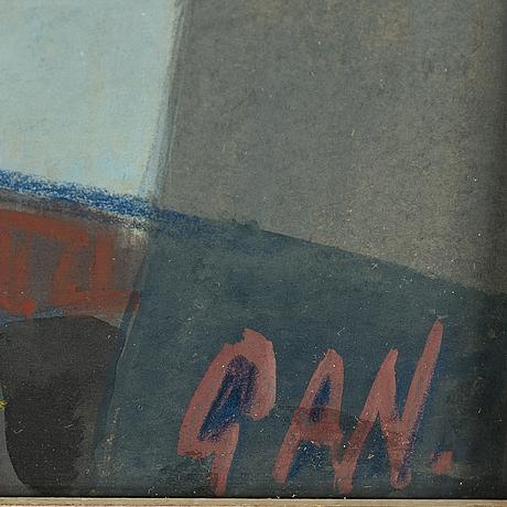 GÖsta adrian-nilsson, gouache & watercolour, signed gan.