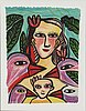 Ulrica hydman-vallien, lithograph in colours, signed 16/100.