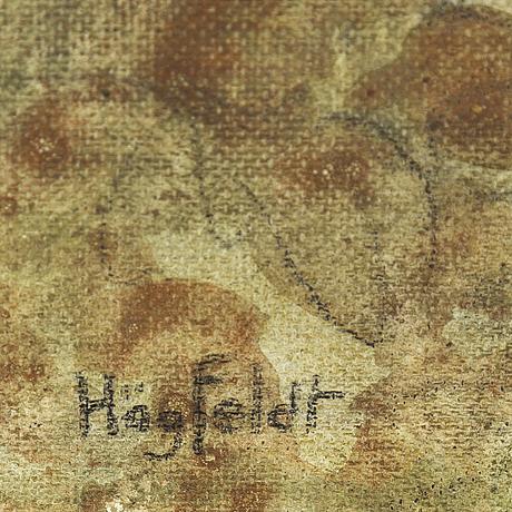 Robert hÖgfeldt, oil on canvas/paper-panel, signed.
