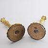 Ljusstakar, ett par, ny-louis xv frankrike, 1800-talets mitt.