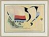 Albert johansson, a colour etchinf, signed albert johansson in pencil. ea.