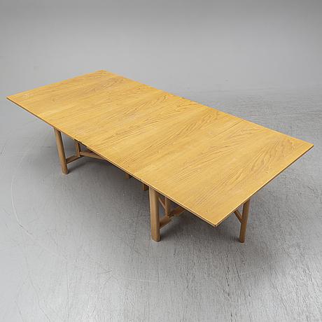 A second half of the 20th century 'maria flap' table by bruno mathsson, firma karl mathsson, värnamo.