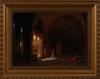 Friedrich august elsasser, olja på duk, sign. roma.