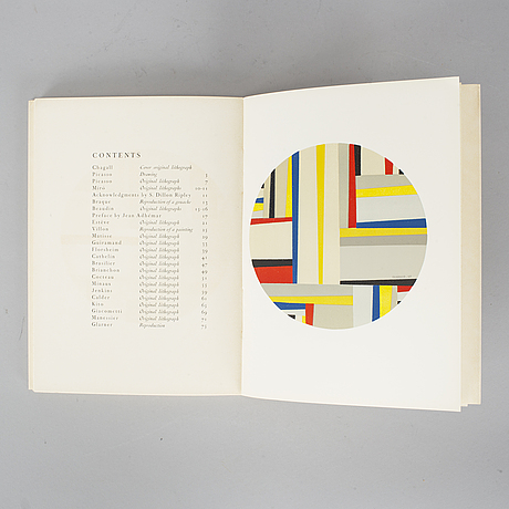 Book, prints from the mourlot press. paris 1964.