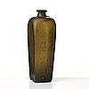 A green dutch gin bottle, seal from j h henkes, 19th century.