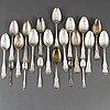 21 silver spoons. 18th/19th century. among others mark of johan petter ingelgren växjö 1794.