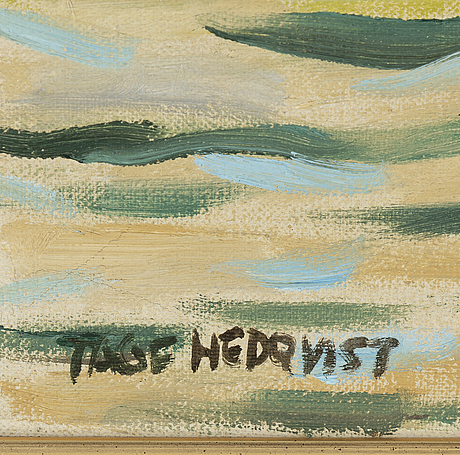 Tage hedqvist, oil on canvas, signed.