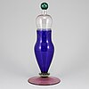 A glass decanter from salviati, murano, second half of the 20th century.