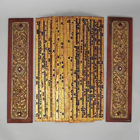 A burmese praying script, early 20th century.