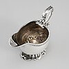 An english 18th century silver sauce-boat, unidentified makers mark, london 1764.
