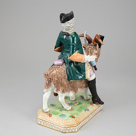 A dresden porcelain figurine, 20th century.