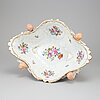A porcelain bowl from dresden, gemany, 20th century.