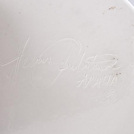 "Heini riitahuhta, vati, posliinia, ""butterfly"", signeerattu heini riitahuhta arabia 2003."