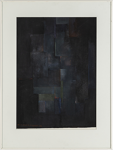 Sven hansson, gouache, signed and dated -93.