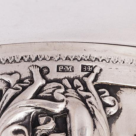 Peter mÖller, a silver tankard, saint petersburg 1826, assay master mark mikhail mikhailovich karpinsky.