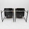 YrjÖ kukkapuro, nojatuoleja, 4 kpl, malli a504 a500-sarjasta, avarte 1980-luku.