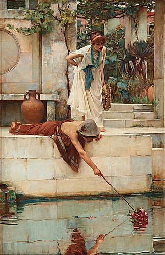 "John william waterhouse, ""the rescue""."