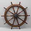 A ship's steering wheel.
