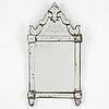 Spegel, senbarockstil, omkring år 1900.