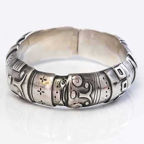 A silver bracelet by koruteollisuus tillander oy, helsinki.
