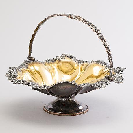A russian, late 19th-century gilt and silver-plated copper bread basket.