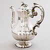 A silver coffee pot, mark of c. tengstedt & son, ct&s, gothenburg, sweden 1861.