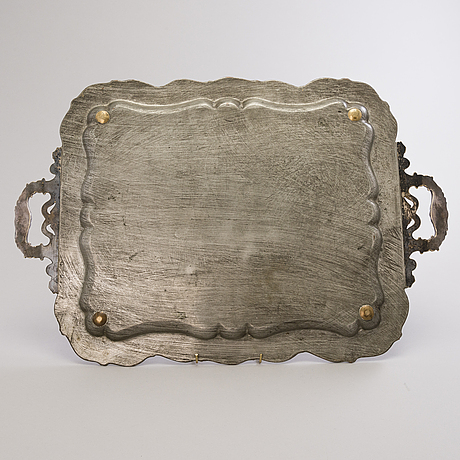 A silver-plated fraget tray, warsaw, end of the 1890s.