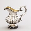 A latvian silver cream jug, mark of carl theodor beyermann, riga, 1853.