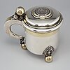 A parcel gilt silver tankard, cg hallberg, stockholm 1881.