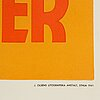 Eric rohman, a vintage movie poster, 'adam hade fyra söner', ingrid bergman, j. olséns litografiska anstalt, 1941.